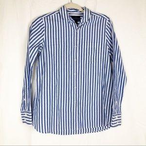 J. Crew Boy Shirt Club Collar Button Front Shirt 2